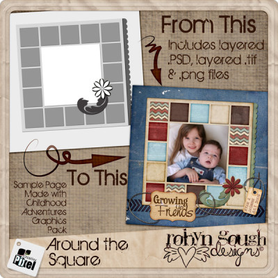 Around The Square Layered Template
