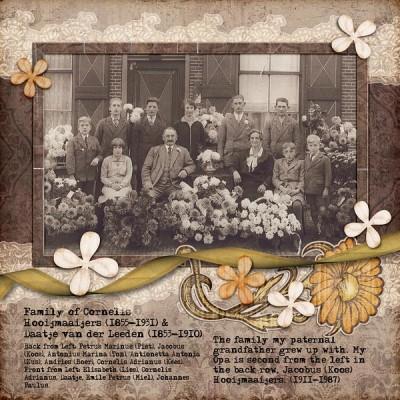 Cornelis and Daatje Hooijmaaijers Family