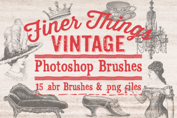 Finer Things Vintage Photoshop Brushes